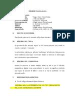 Informe Psicologico (Sergio )