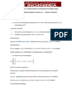 Solucionario de La Cuarta Practica Calificada de Algebra Lineal