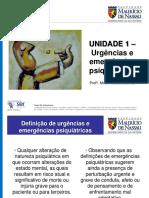 Urgências e Emergências Psiquiátricas