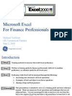 Microsoft Excel for Finance Professionals