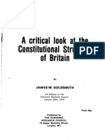 A Critical Look at the Constitutional Structure of Britain