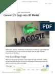 Convert 2D Logo Into 3D Model - Arch Viz Camp