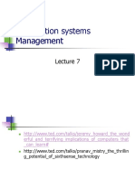 Information Systems Management AI Lecture 7