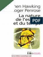 Stephen Hawking, Roger Penrose-La Nature de l'Espace Et Du Temps-Gallimard