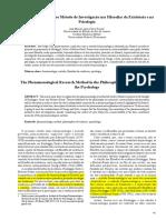 Feijoo e Mattar_A Fenomenologia Como Metodo de Investigacao