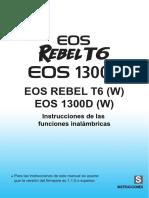 Eos Rebelt6 1300d instrucciones funciones inalámbricas