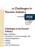 Various Challenges in Tourism Industry PPT (SHIWANGI