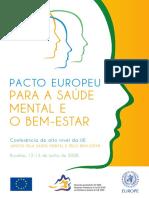 2008 Pacto Europeu Para a Saúde Mental e Bem-Estar