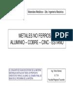 Metales No Ferrosos, Alumnos