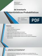 Modelo de Inventario Probabilísticos - Determinísticos