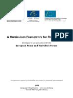 Curriculum Framework for Romani