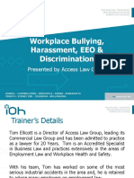 Workplace Bullying Harassment Presentation by Tom Ellicott