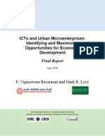 12802403661ICTs and Urban Micro Enterprises 104170-001