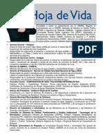 Hoja de Vida Fernando Piscoya