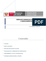 Mercado Farmaceutico Acceso Medicamentos Peru