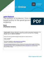 La política de la evidencia