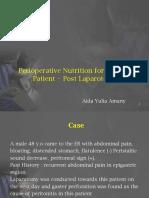 Perioperative Nutrition Post Laparotomy Patient