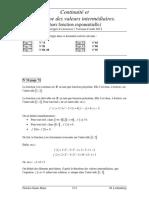 ContinuiteTVI (Exercices Sans Exp) V082012