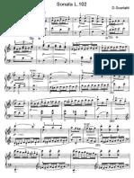 Scarlatti Sonate Per Pianoforte (102)