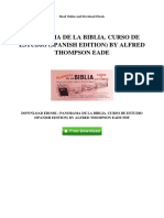 Panorama de La Biblia Curso de Estudio Spanish Edition by Alfred Thompson Eade