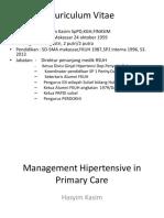 2. Dr. Hasyim Kasim, Hipertensi