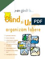 Cind Si Unde Organizam Tabere