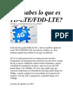 4G FDD-TDD LTE
