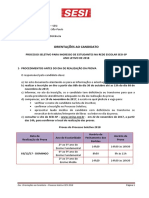 Orientações Ao Candidato 2018 - Sesi-sp v.01