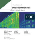 Melchert Duijve - MSc Thesis - LCA Insulation Materials - 2012