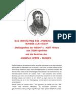 23.Sandwirtsbrief / DAS VERHÄLTNIS DES ANDREAS HOFER BUNDES ZUR NSDAP