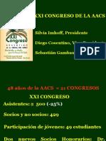 Cierre Xxi Congreso Silvia Imhoff