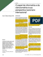 MACIAS-CHAPULA, C. a. O Papel Da Informetria e Da Cienciometria e Sua Perspectiva