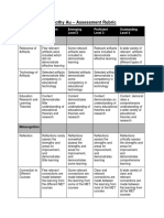 timothy au eportfolio assessment rubric