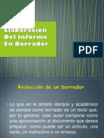 Elaboración Del Informe
