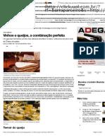 VINHOS E QUEIJOS - A COMBINAÇÃO PERFEITA - REVISTA ADEGA