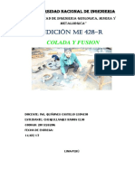 Informe de Control de Calidad (Fundición)