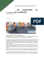Normas de Seguridad Para Trabajo en Asfalto