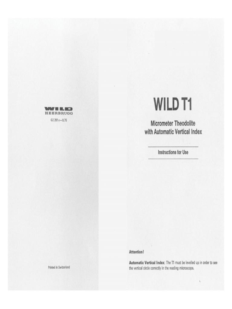 wild T1 THEODOLITE complete manual.pdf
