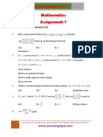 Mathematics Assignment P7