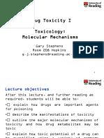 Drugs Toxicology Mechanism