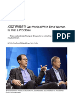 AT&T Wants to Get Vertical With Time Warner
