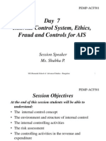Day-7 Internal Control System, Ethics, Fraud and Controls for AIS PDF