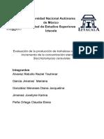 (Protocolo) Evaluación de La Producción de Trehalosa en Relación Al Incremento de La Concentración Etanolica en Saccharomyces Cerevisiae