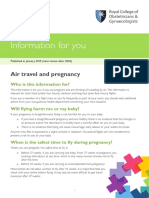 RCOG Air Travel Pregnancy