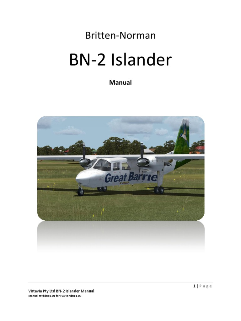 Manual BN2 En | Aircraft | Aviation