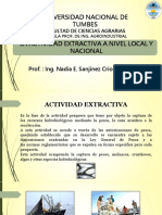 Actividad Extractiva a Nivel Local y Nacional