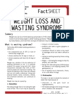 Weight Loss and Wasting Syndrome