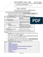Instructions and Schedule for Asst. Prof Interview Under TEQIP III