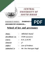 Evidence....Abhishek Anand