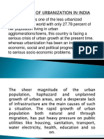 Problems of Urbanization in India